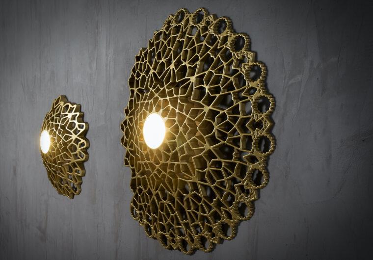 Karman. Notredame Oro. Ekskluzywna lampa ścienna..